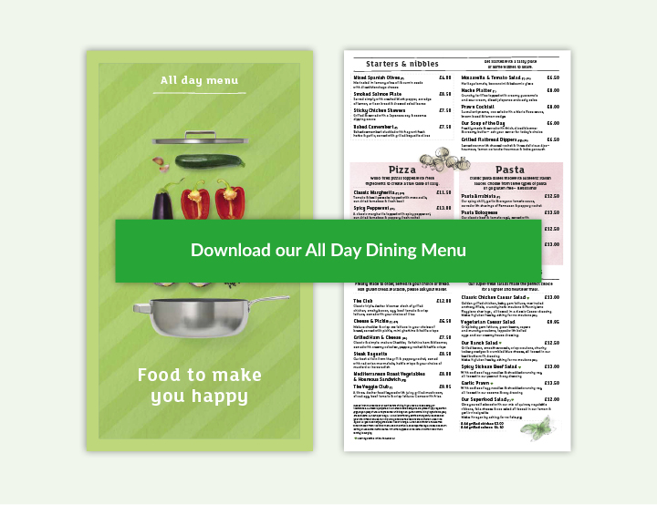 All Day Dining Menu